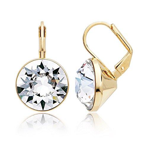 Swarovski Earrings Bella Pierced (MYJS Bella Statement Earrings Clear Swarovski Crystal Gold Plated)