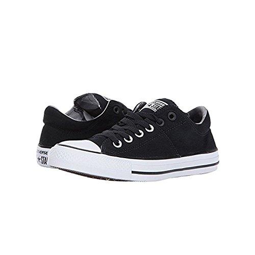 Converse Kvinna Madison Läder Låg Top Sneaker Svart / Svart / Vit