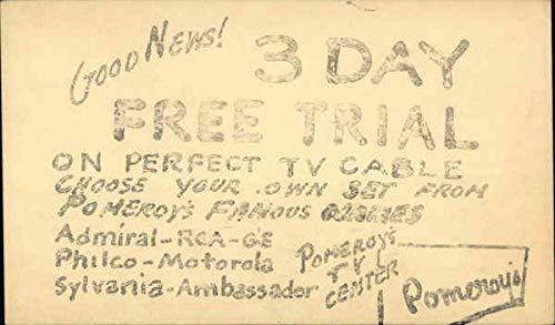 Amazon com: Vintage Advertising Postcard: Pomeroy's TV