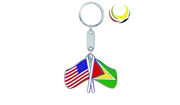 Llavero usa-guyana banderas: Amazon.es: Oficina y papelería