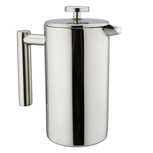 stainless steel french press coffee maker 34oz double wall insulated espresso tea maker. Black Bedroom Furniture Sets. Home Design Ideas