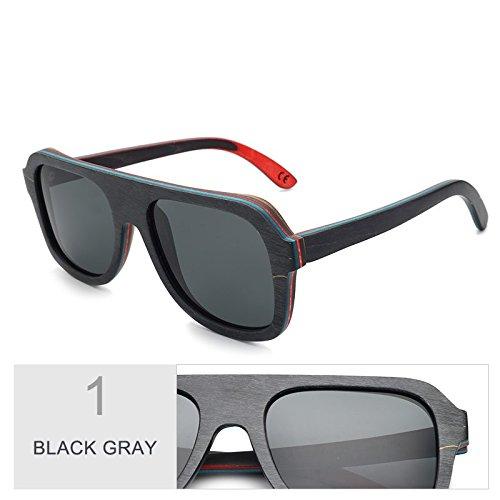 Hombre Bastidor De Madera Gafas Madera 100 Gafas TIANLIANG04 Gafas Color Sol De Black Multicapa Real De Gray Unisex Sol En De Gafas Antirreflejante De Sol Polaroid Gris De Café zxqU5xHPw