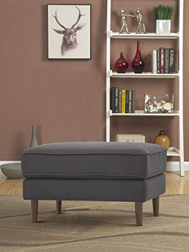 Lifestyle Solutions Turner Upholstered Ottoman Heather Grey