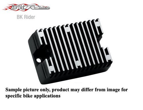 BK Rider Black Solid-State Regulator for Harley 86-90 XL (19a) repl. OEM #74523-84A (C01089066) by BKRider