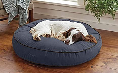 Amazon.com: Orvis - Cama redonda para perro, diseño de perro ...