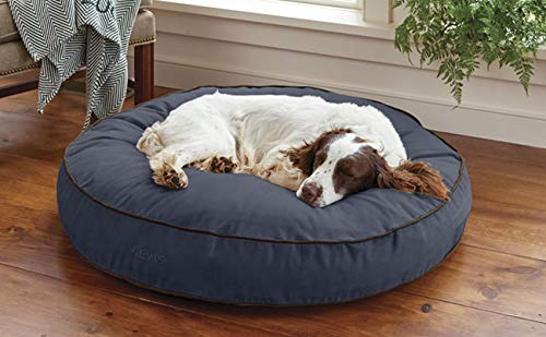 Orvis Comfortfill Round Dog's Nest/Small Dog Bed - Dogs Up to 25 Lbs, Blue