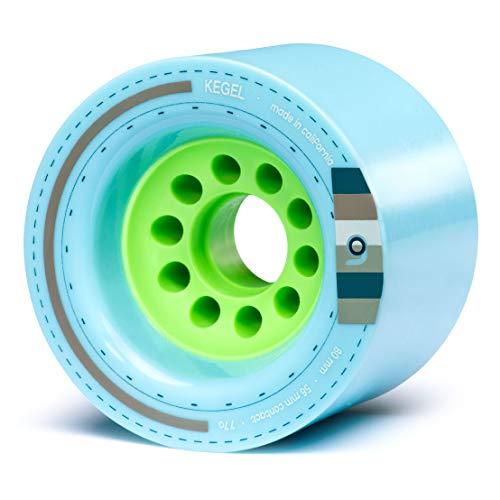 Orangatang Kegel 80 mm 77a Downhill Longboard Skateboard Cruising Wheels w/Loaded Jehu V2 Bearings (Blue, Set of (Best Tgm Skateboards Wheels For Longboards)