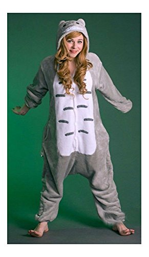 Unisex Adult Totoro Kigurumi Pajamas Onesi Cosplay Costume Animal Sleepwear Warm (XL) from Unknown
