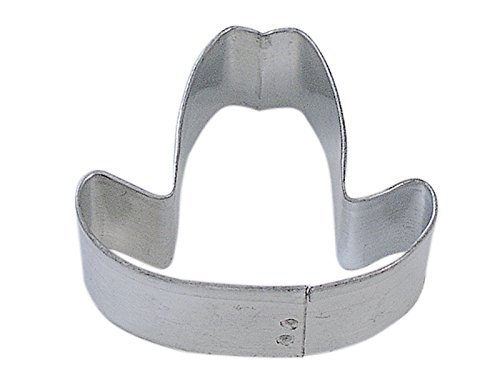 CybrTrayd R&M Cowboy Hat Tinplated Steel Cookie Cutter, Mini, Silver, Bulk Lot of 12