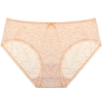 Rey&Qing Ropa Interior Femenina Briefs Cintura Delgada Dama Ropa Interior De Algodón,80-100