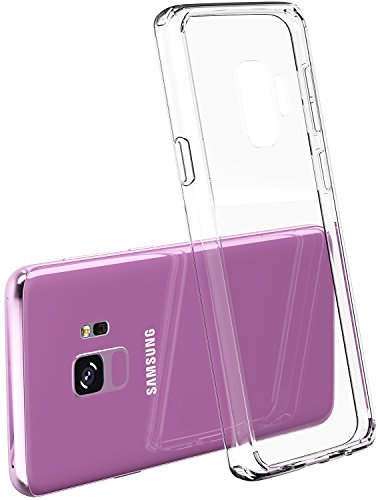 super popular 9524b fa7a5 TOZO for Samsung Galaxy S9 Case, PC + TPU Hybrid Ultra-Thin [ Perfect Fit ]  Hard Protect Case Shock Absorption Back-Transparent Bumper