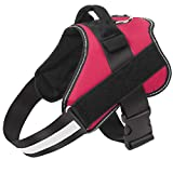 Dog Harness No Pull Reflective Adjustable Pet Vest with Handle for Outdoor Walking- No More Pulling, Tugging or Choking(Red,M)