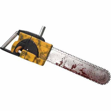 [Plastic Chainsaw with Electric Saw Sounds.] (Texas Chainsaw Massacre Costume For Kids)