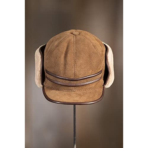 Shearling Sheepskin Cadet Cap with Snap Flaps  4BIKe0308269  -  29.99 563f1bbbb0d5