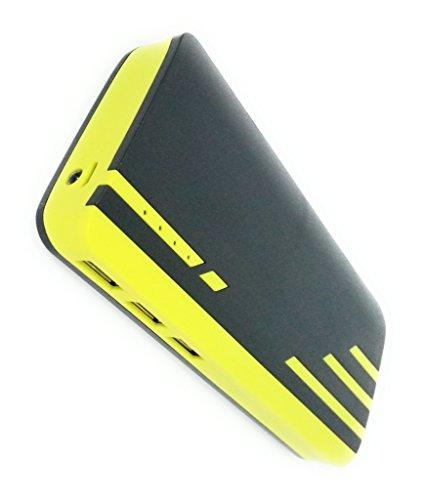 Lapguard Sailing-1530 Power Bank 10400 mAh Make In India portable Charger powerbank -Black-Yellow