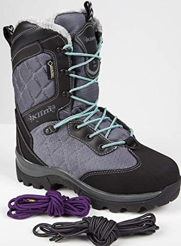 Gray//Black Size 7 Klim Aurora GTX Womens Snocross Snowmobile Boots Boots