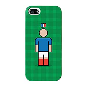 France Full Wrap High Quality 3D Printed Case for iPhone 5 / 5s by Blunt Football International + FREE Crystal Clear Screen Protector