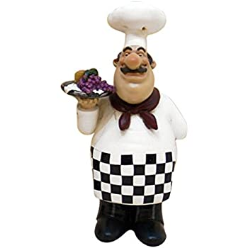 Exceptionnel Fat Chef Kitchen Statue Holding Grapes Table Top Art Figurine 64141
