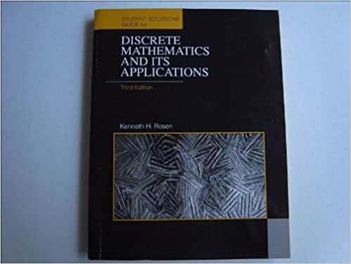 Discrete mathematics and its applications students solutions discrete mathematics and its applications students solutions manual kenneth h rosen 9780070539662 amazon books fandeluxe Gallery