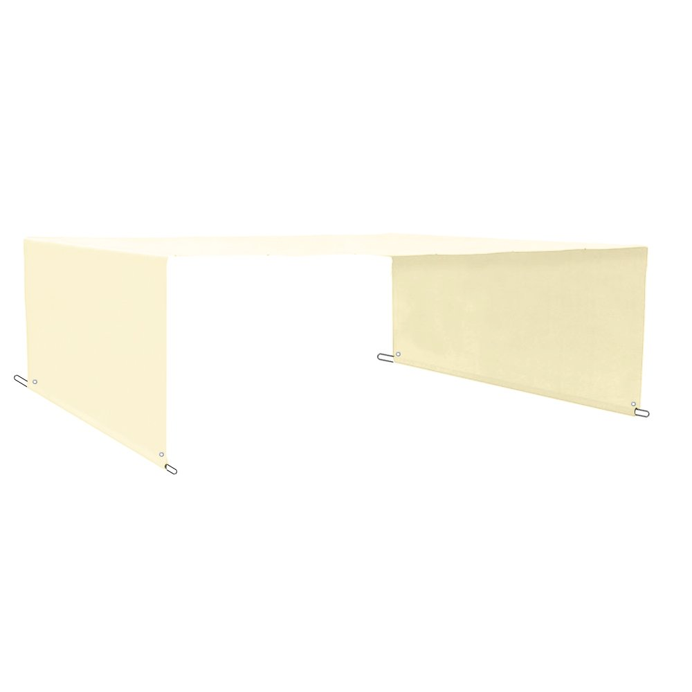 Alion Home Custom HDPE Permeable Canopy Sun Shade Cover Replacement with Rod Pockets for Pergola (20' x 95'', Cream)
