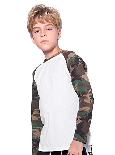 Koupa Kids Little Boys Camouflage Sleeved T-Shirt Long Sleeved Shirt White K1832 110/3-4Y