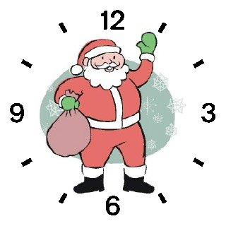 Santa Claus with Bag of Presents (Cartoon) Christmas Theme - WATCHBUDDY ELITE Chrome-Plated Metal Alloy Watch with Metal Mesh Strap-Size-Large ( Men's Size or Jumbo Women's Size )