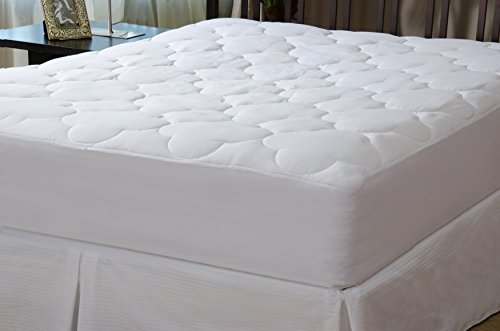 Micropuff - Down Alternative Mattress Pad - Fitted Style Mattress Topper (King Size - 78'x80') –Mattress Cover Stretches up to 18'!