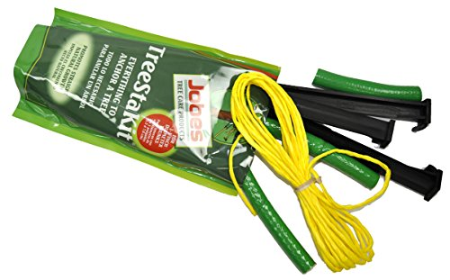- Jobe's TreeStaKit Tree Staking Kit for Medium Trees Up To 3 inches in Diameter (Kit Includes: Highly Visible Straps, 21 feet of Nylon Rope, and Durable Stakes)