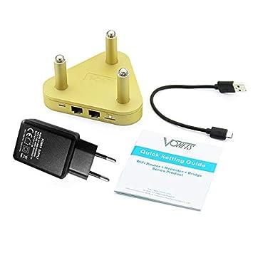 Vinkent 2.4G 300Mbps + 5G 450Mbps Enrutador de WiFi de Banda Dual WiFi Amplificador de