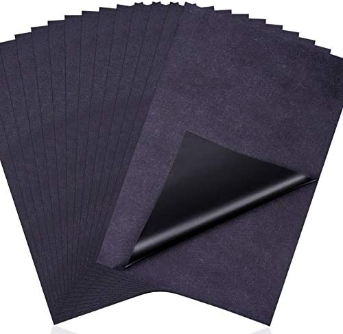 Carbon Paper for Tracing, Cridoz 50 Sheets Carbon Transfer Tracing Paper Graphite Paper for Tracing on Wood, Paper, Canvas (8.5 by 11 Inch)