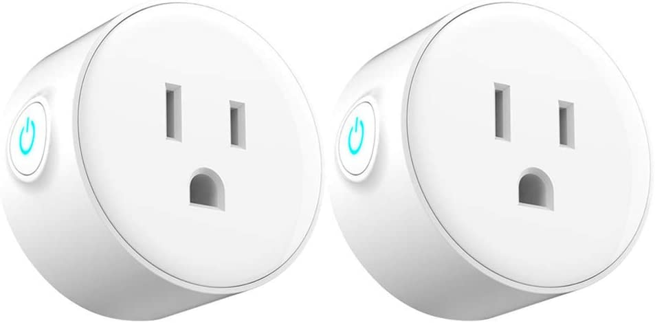 YASSUN WIFI Smart Plug, Works with Alexa/Google Home, For Water Heater, Air-Conditional, Light, Electric Kettle, etc, 2 Pack