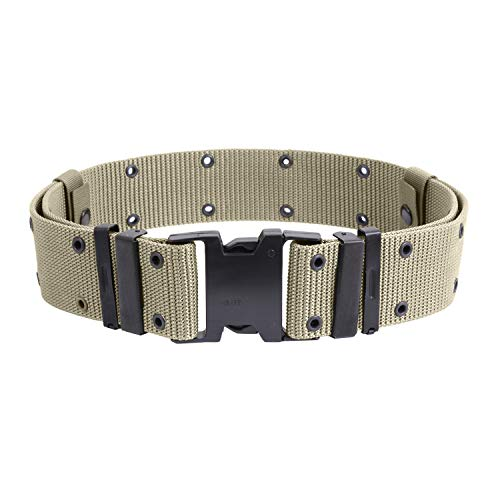 Rothco New Issue Marine Corps Style Quick Release Pistol Belts, M, Khaki ()