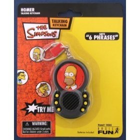 The Simpsons Homer Talking Keychain