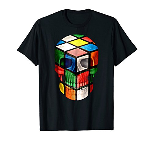 Design Awesome Skull (Rubik Cube Skull Huge Awesome Design T-shirt)