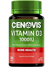 Cenovis Vitamin D3 1000IU - Helps calcium absorption - Supports bone strength - Supports muscle strength, 200 Tablets