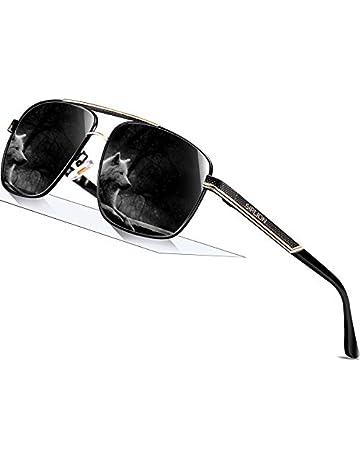 57e6842b134da SIPLION Men s Driving Polarized Rectangular Square Sunglasses man Metal  Frame