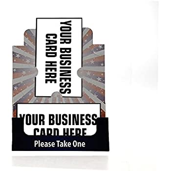 Amazon marketing holders business card holders 12 pack marketing holder bulletin board business card display for event made in the usa 20 american flag print reheart Images
