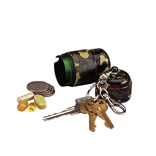 Officer Utility Belt For Police Costumes (Woodland Army Camo Camping Hiking Scout Waterproof Utility KeyChain Capsule Pod)