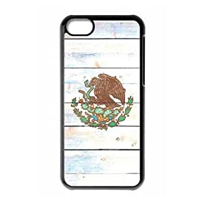 iPhone 5c Cell Phone Case Black Mexico Flag Light Wood JSK741714