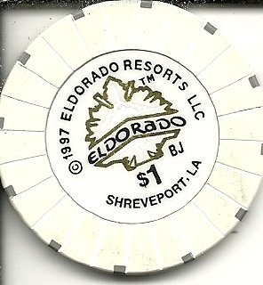 1 Eldorado Resorts Casino Shreveport Lousiana Casino Chip Obsolete
