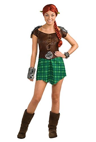 [8eighteen Shrek 4 Deluxe Fiona Warrior Adult Halloween Costume] (Warrior Fiona Costumes)