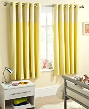 Ready Made Eyelet Thermal Blackout Curtains with Gingham Check ...