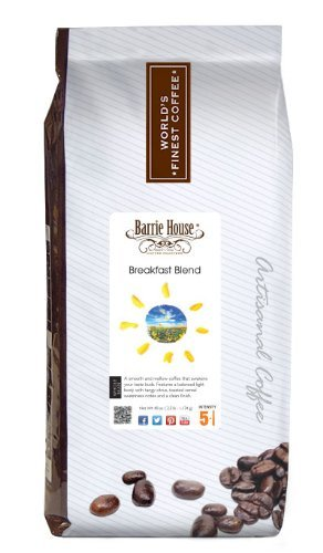 Barrie House Coffee Breakfast Blend Coffee, whole bean 2.5 lb. bag by Barrie House