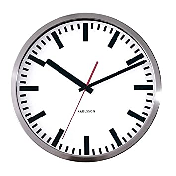 Küche Second Hand | Wall Clock Station W Second Hand Steel Polished Amazon De Kuche