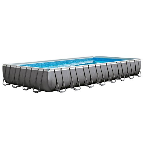 (Intex 32ft X 16ft X 52in Rectangular Ultra Frame Pool Set with Filter Pump & Saltwater System)