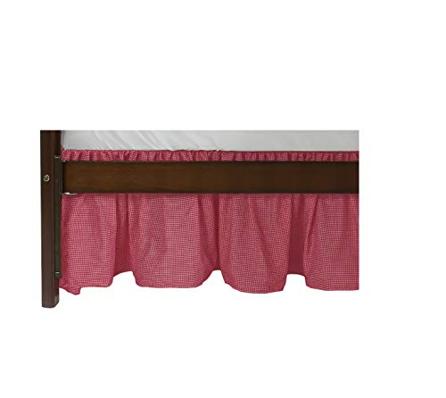 Baby Doll Gingham/Eyelet Patchwork Crib Skirt/Dust Ruffle, Red
