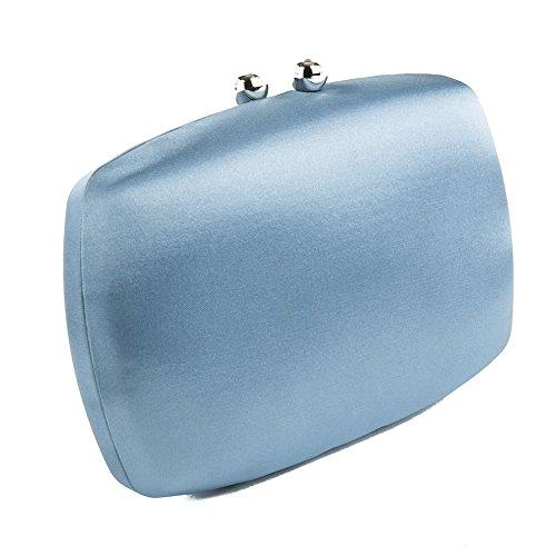 Borsa clutch, Marzia Azzurro, In raso