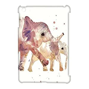 Elephant Design 3D Customized Durable Hard Plastic Case Cover LUQ350693 For Ipad Mini