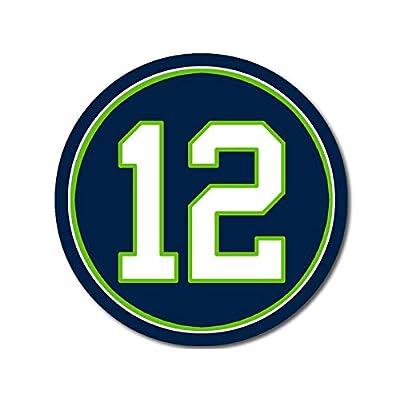 American Vinyl Round #12 Seahawks Colors Sticker (Fan Twelfth Man Seattle Football): Automotive