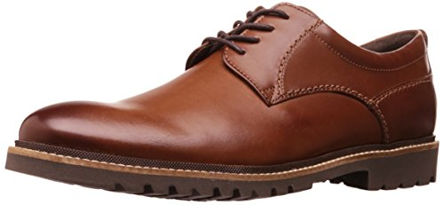 - Rockport Men's Marshall Plain Toe Oxford Dark Brown Leather, 7.5 W US, 7.5 W US